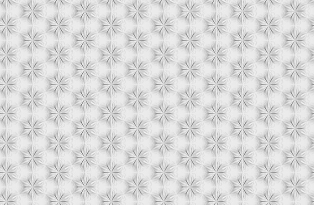 Driedimensionaal naadloos lichtpatroon met zespuntige bloemen