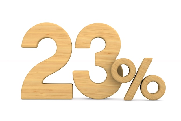 Drieëntwintig procent op wit