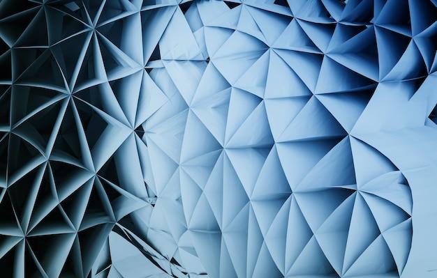 Driehoek lijn vorm 3d abstracte achtergrond