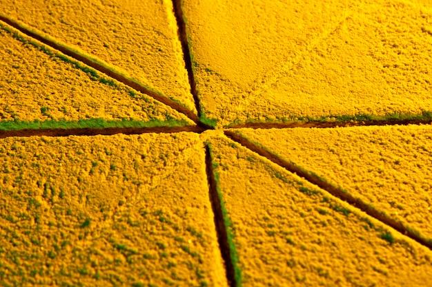 Driehoekige plakjes geel zand