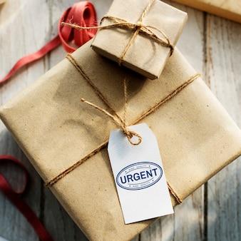 Dringende garantie goedgekeurd merklabelconcept