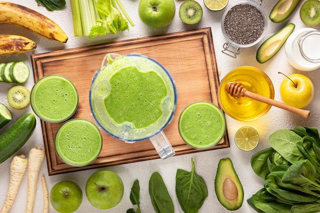 Drink detox-spinazie-ingrediënten