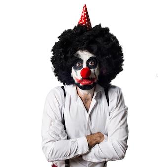 Droevige moordenaar clown