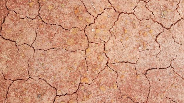 Droge aarde, gebarsten textuur
