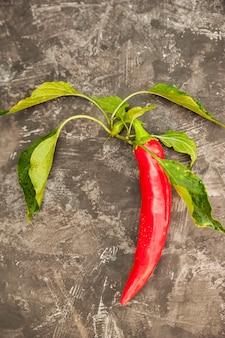 Droge en rijpe spaanse peperpeper op een donker close-up als achtergrond. chilipepertjes en kopie ruimte. cinco de mayo