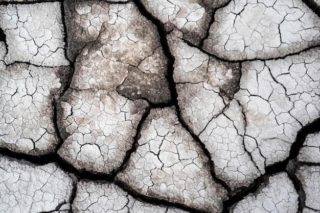 Droge gebarsten aarde als achtergrond close-up achtergrond volledige vlam patroon spleet oppervlaktetextuur