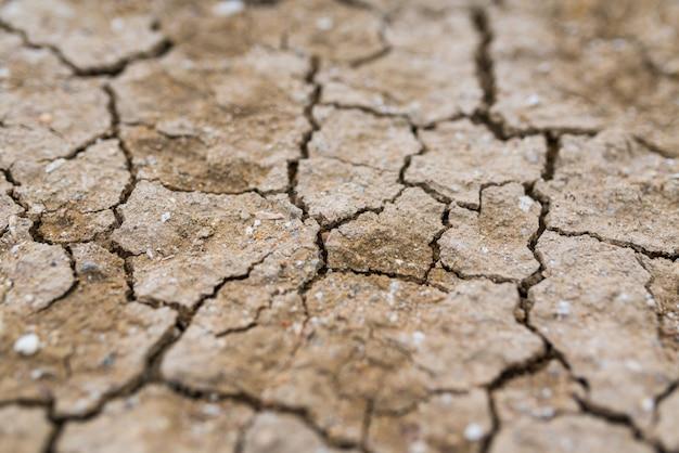 Droge gebarsten aarde, de textuurachtergrond van de kleiwoestijn