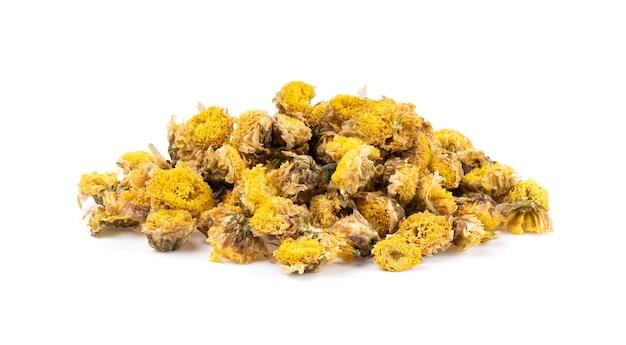 Droge geïsoleerde chrysantenbloemen