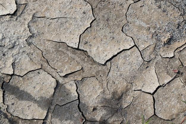 Droge modderachtergrond en textuur, grond en land