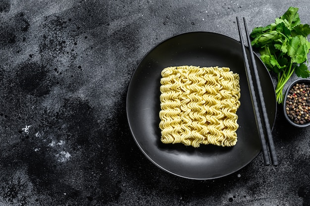 Droge, rauwe snel koken noodle, instant noodles.