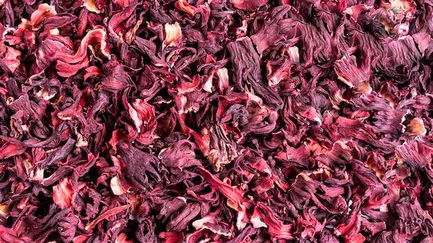 Droge rode hibiscus karkade laat thee