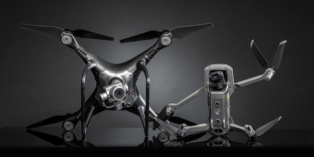 Drone op een donkere achtergrond