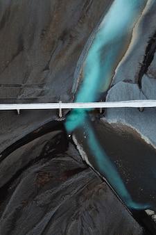 Drone-opname van de zuidkust van ijsland