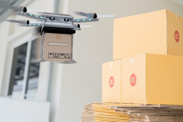 Drone-technologie-engineeringapparaat voor industrie die in industrieel vliegt