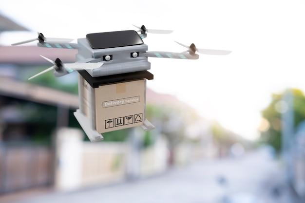 Drone-technologie-engineeringapparaat voor vliegen in de industrie