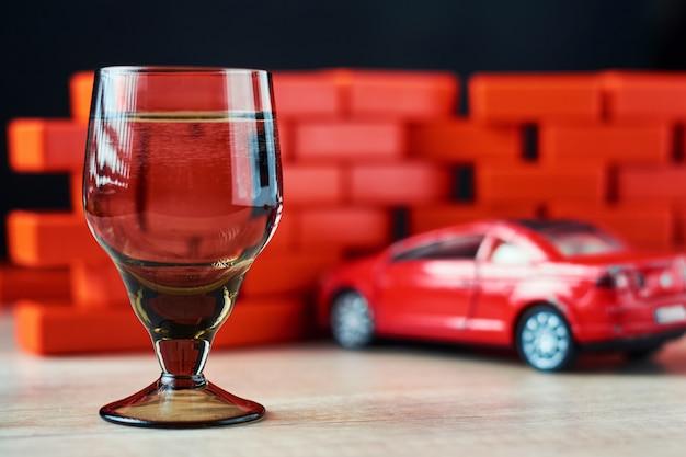 Dronk rijden ongeval met een auto-ongeluk.