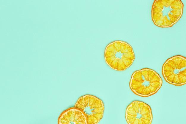 Droog gesneden mandarijnen