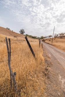Droog landschap in martim-longo, portugal