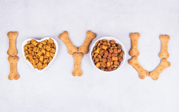 Droogvoer en botten voor huisdieren