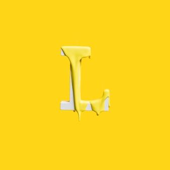 Druipende verf op letter l