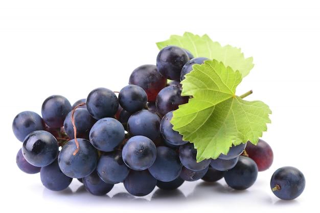 Druiven op wit