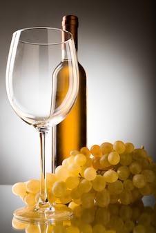 Druiven wijnglas