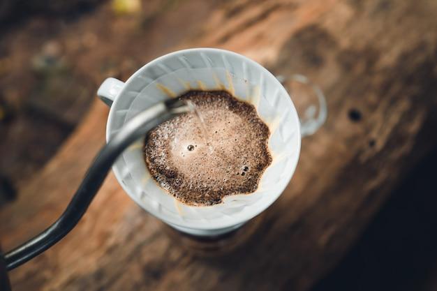 Druppel koffie koffie thuis