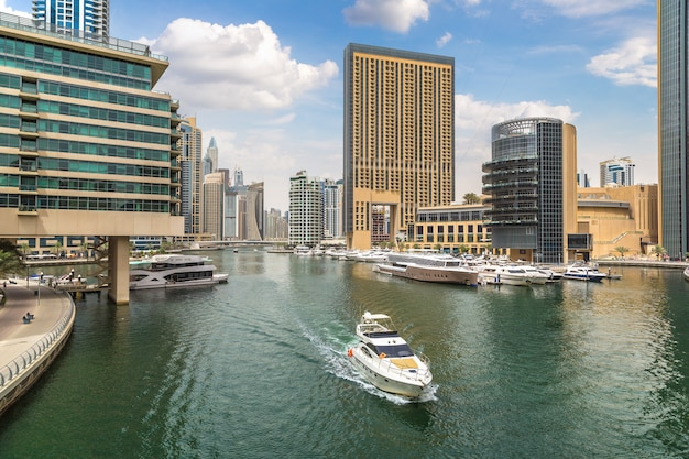 Dubai marina, verenigde arabische emiraten
