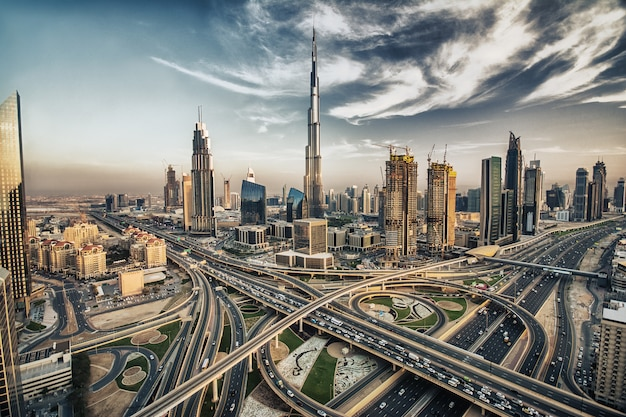 Dubai skyline met prachtige stad