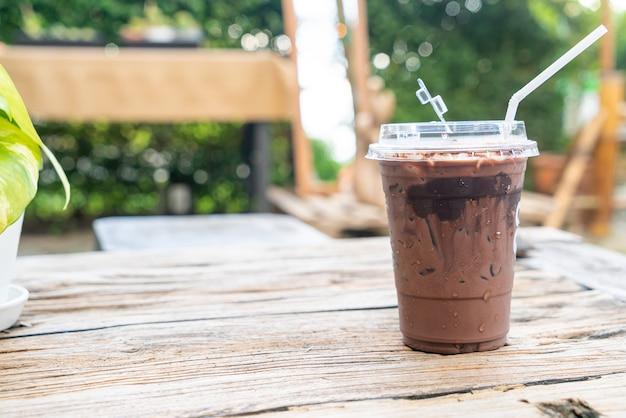 Dubbel (melkchocolade en donkere chocolade) milkshakeglas