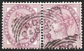 Dubbele violet queen victoria postzegels