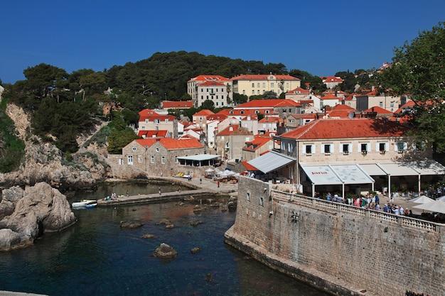 Dubrovnik stad aan de adriatische zee, kroatië
