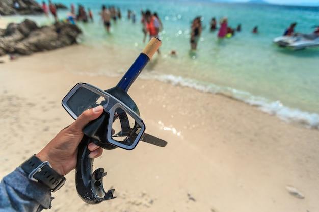 Duik masker en snorkel, snorkelen