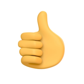 Duim omhoog gebaar illustratie like finger sign positieve feedback foto emoji emoticon
