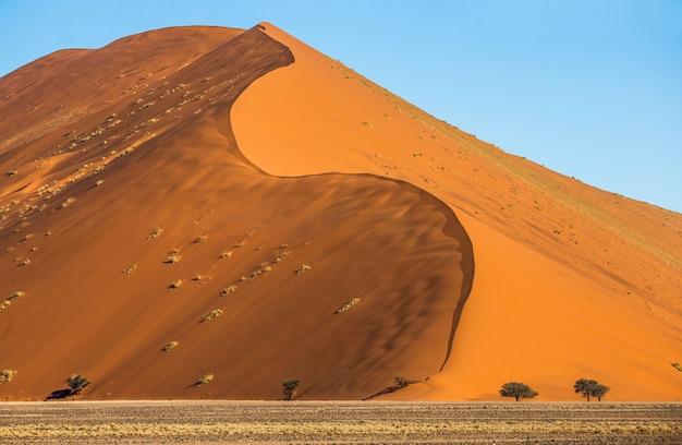 Duinen van de sossusvlei-woestijn, afrika