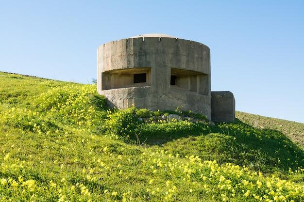 Duitse bunker op sicilië, dichtbij gela