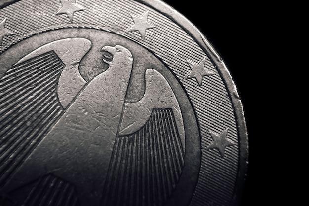Duitse euromunt. bedrijfsconcept