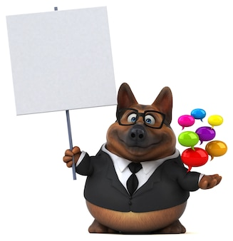 Duitse herdershond illustratie