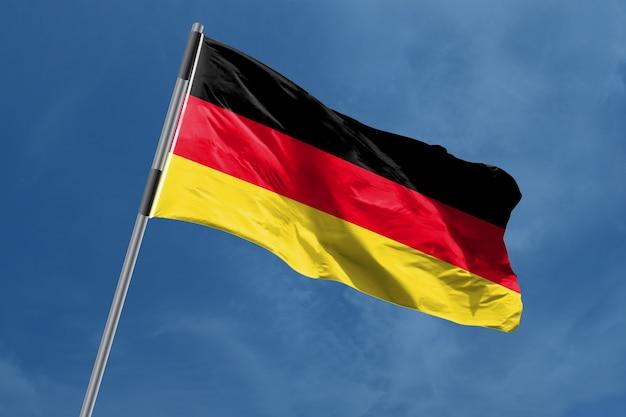 Duitsland vlag zwaaien