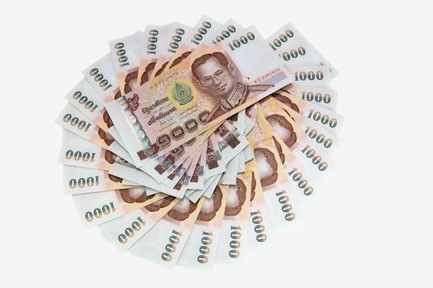 Duizend thaise baht bankbiljetten achtergrond