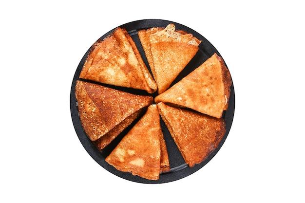 Dunne pannenkoeken uit de russische keuken russische blini-pannenkoeken