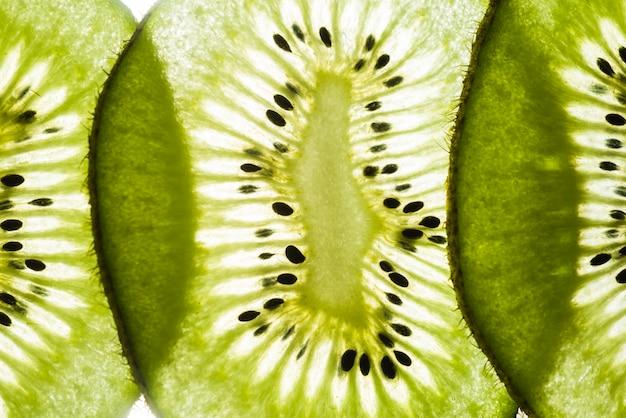 Dunne plakjes sappig kiwifruit