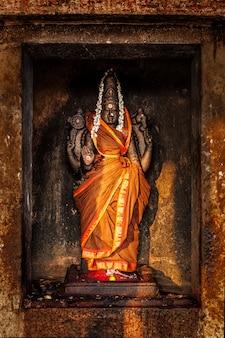 Durga-afbeelding in hindoetempel