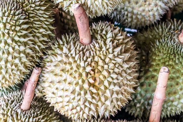 Durian fruit, koning van fruit, zuidoost-azië als de