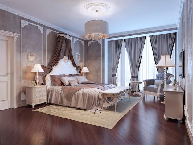 Duur interieur van een boheemse slaapkamer
