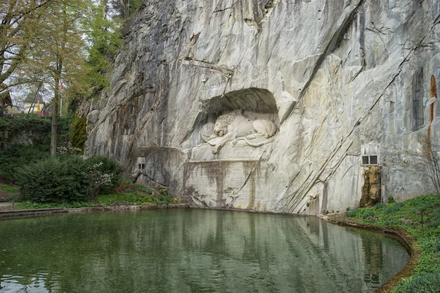 Dying lion wall monument, lucerne switzerland