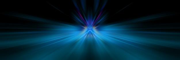 Dynamische blauwe en donkere lijnen van licht.