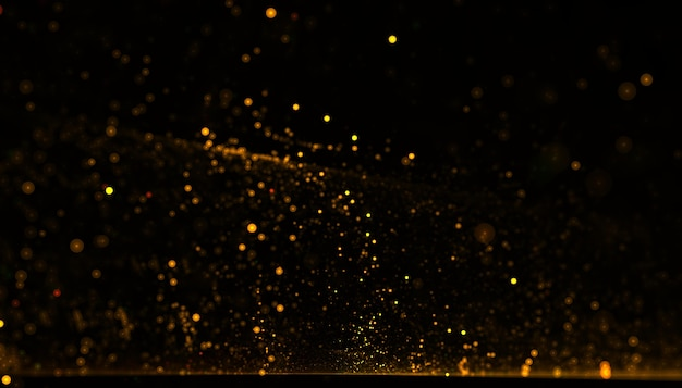 Dynamische gouden deeltje vloeiende stofachtergrond