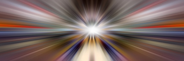 Dynamische lichtlijnen. licht vanuit centraal punt.