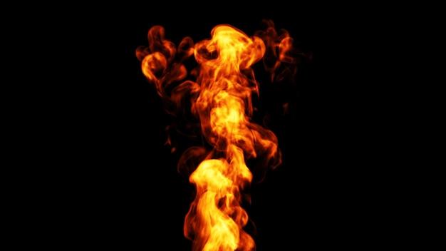 Dynamische vuurvlam. 3d.